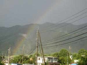 木島平 虹 ダブル