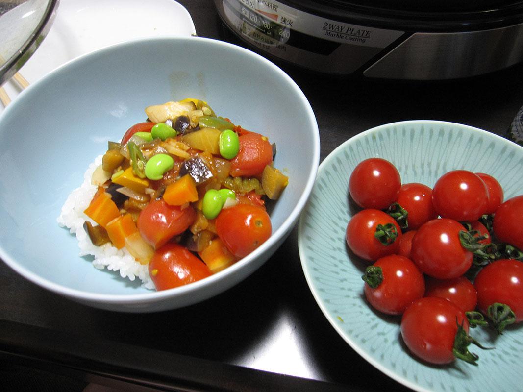 色彩豊かな、トマトたち
