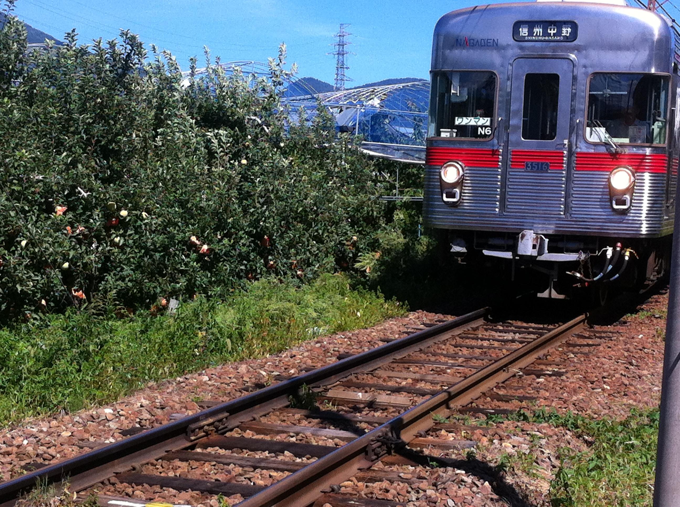長野電鉄でレトロ車両を発見!