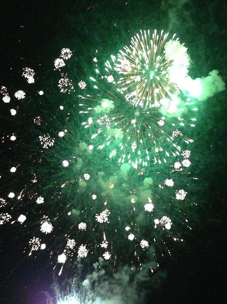 千曲川河畔納涼花火大会2013 有料観覧席体験