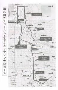 信州カチューシャふるさとマラソン大会コースマップ